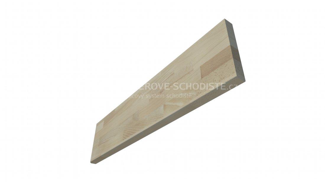 Holzwange des Podests BUCHE - 1,014 m - gerade Treppe mit Viertelpodest - 0,9 m